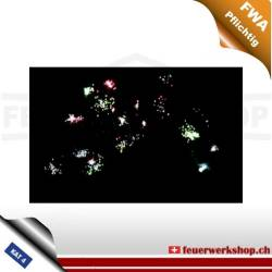 Z Shape 3 Layer Colorful Mine And White Glittering Stars