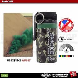 Große Rauchgranate für Paintball und Airsoft (Kipphebel - Grün)