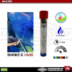 Handrauchfackeln SMOKE-X blau