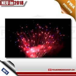 Feuerwerk Cake – Red & Blue Star von Pyroprodukt