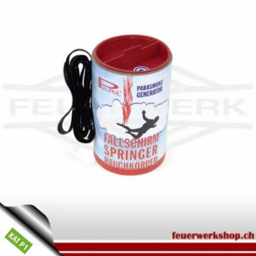 Fallschirmspringer Rauchkörper Rot