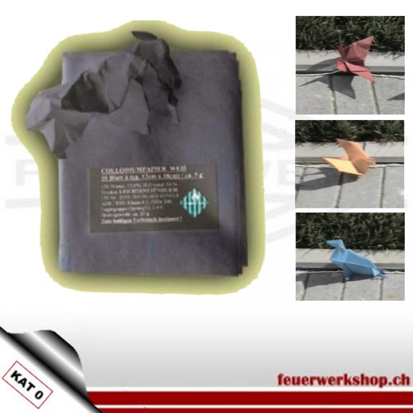 Origami-Pyropapier - verschiedene Farben