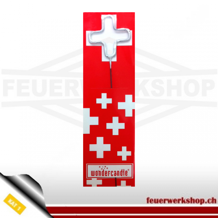 Wunderkerze Schweizer Kreuz