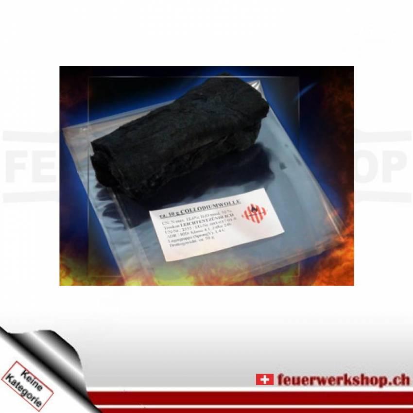 Pyroxilwatte (schwarz)
