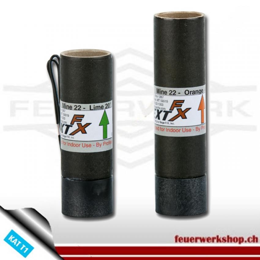 Feuertopf Orange - 9 m (Pyrotechnik)