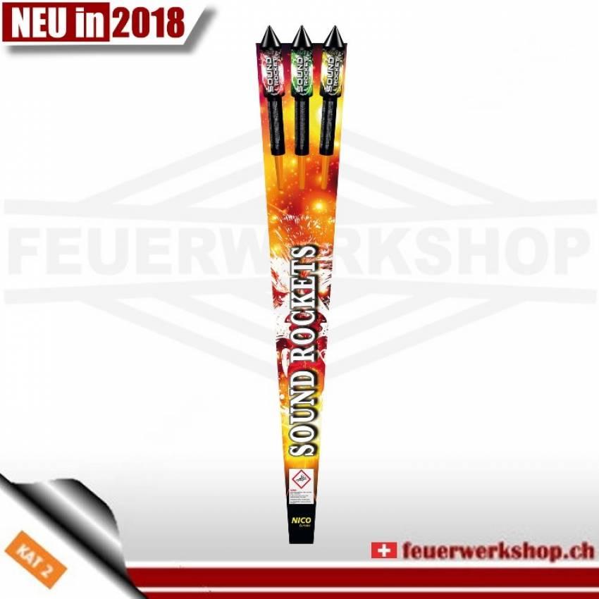 Feuerwerk Raketenset *Sound Rockets* 3er