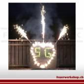 Brennendes Herz mit Initialen (Outdoor - Bastel-Set) inkl. Holz