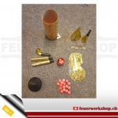 Tischbombe Gold-Hologramm