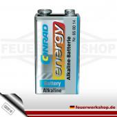 Alkali-Mangan Blockbatterie 9 Volt