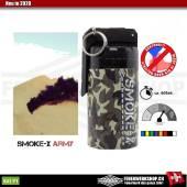 Große Rauchgranate für Paintball und Airsoft (Kipphebel - Schwar